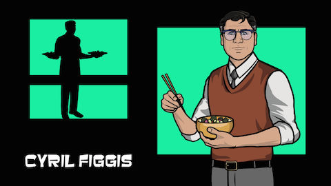"ARCHER: ""Cyril Figgis"" as voiced by Chris Parnell"