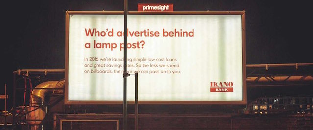 billboard-who'd advertise behind a lamp post