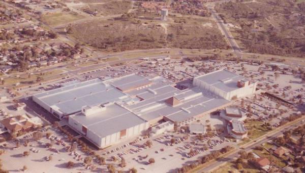 Old aerial photo of Karrinyup Shopping Centre