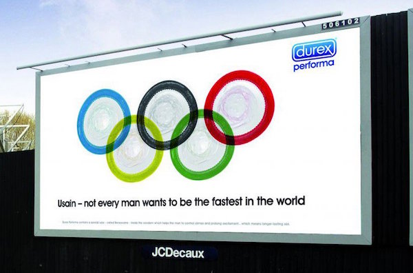 condoms as the olympic rings logo