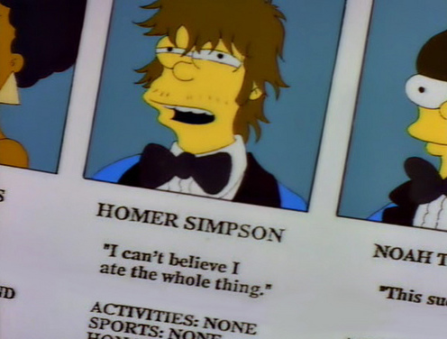 Homer Simpson Year Book: I can't believe I ate the whole thing