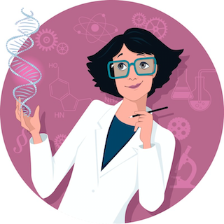 woman scientist illustration