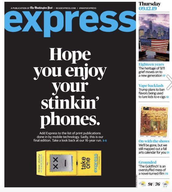 """Hope you enjoy your stinkin' phones"""