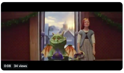 john lewis ad scene - dragon and little girl